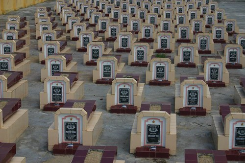 Graveyard. Central Vietnam 2007.