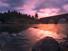 Cool view of sunset (Ludeman99) Tags: oblivion elderscrolls4
