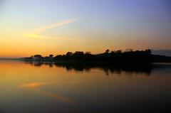 Cloud (usamabhatti) Tags: blue pakistan sunset sky orange cloud reflection nature water yellow clouds nikon bravo searchthebest d70s late interestingness9 islamabad blueribbonwinner rawallake magicdonkey 25faves abigfave anawesomeshot