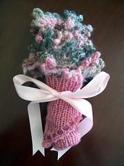 la la scarf bouquet
