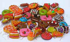 Cakes - Dolci - Ptisseries (jujuly25) Tags: color diy yummy handmade craft jewellery gourmet polymerclay fimo homemade colourful artisanal color gourmand goloso