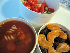 Day 30: Project 365 (brittney) Tags: tangerine fruit lunch soup berries bento veggies project365 soycutash