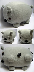 the double-ended wombat (Jellibat) Tags: toy plush softie twoheaded wombat creepycute jellibat