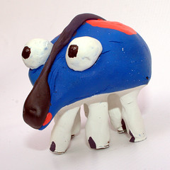 [mb] Gary (Merrick Brown) Tags: blue friends sculpture art austin toy toys diy model eyes cartoon homemade clay myart custom creature modelling mb merrick merrickbrown merrickb mbtoys