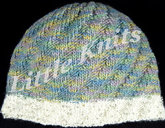 Asymetric Hat in Tilli Tomas Aspen by Little Knits