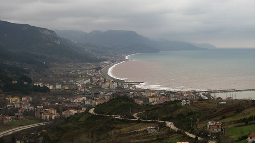 Looking west towards Cide, Black Sea coast of Turkey