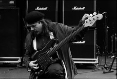 bill laswell's painkiller (manuel cristaldi) Tags: leica blackandwhite bw musician music film 35mm blackwhite concert bass guitar live trix jazz marshall instrument beret amplifier jazzfestival electricbass livejazz musicphotography visualjazz views400 billlaswell experimentallivemusic livemusicphotographs manuelcristaldi