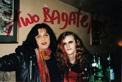 Two bagatelles - Luis and friend (Luis Drayton) Tags: leather drag glamour punk mixedmedia makeup transgender tranny transvestite punkrock glam alteredimage bagatelle glamourpuss glamourpussy thewayoutclub luisdrayton