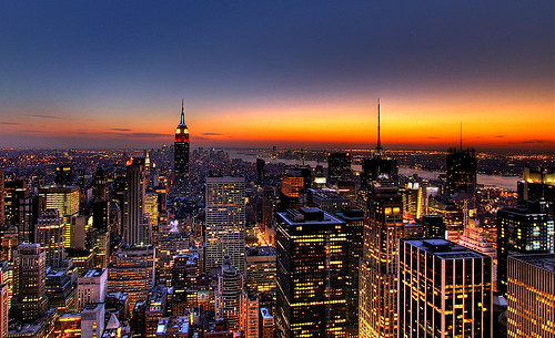 NYC New York City Skyline Sunset Wallpaper, Background | Flickr - Photo