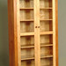 Bookcase Cabinet in Cherry and Curly Maple, with Walnut Accents 72