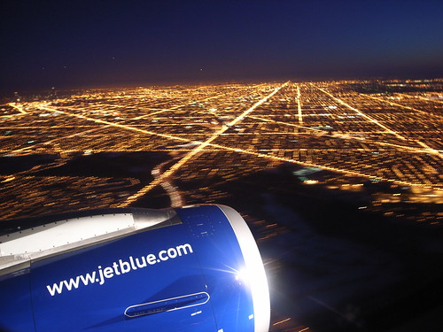 JetBlue Flying over ORD