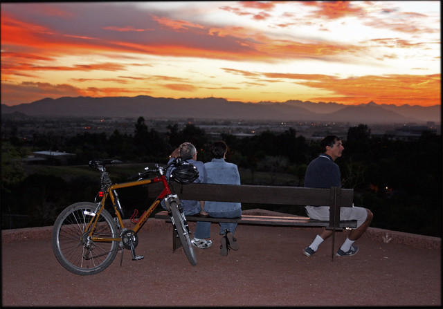 Sunset Observation Bench Seats Two Comfortably