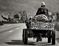 Mercedes Dream! (Berat) Tags: life road old bw man interestingness europe carriage text hard oldman prizren kosova kosovo berat hourse kosove beratflugaj abigfave periodismoindependiente