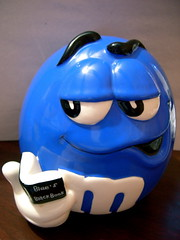 Blue is my hero! (Tojosan) Tags: blue catchycolors nikon gift tuesday coolpix jar mm candyjar