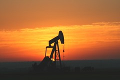 Pumping unit at sunrise (Marvin Bredel) Tags: sun oklahoma sunrise marvin oilwell pumpingunit impressedbeauty marvin908 bredel marvinbredel