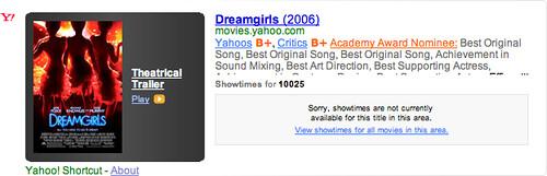 Yahoo Movie Shortcut