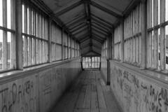 Stapleton Road Station, 1974. (Fray Bentos) Tags: station bristol grafitti footbridge vandalism stapletonrd nationaldecline