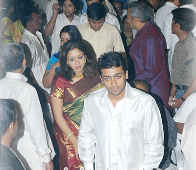 Surya Jyotika at wedding