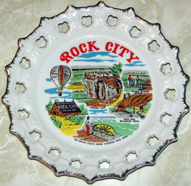 See Rock City Ceramic Spoke Plate