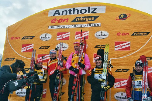 Biathlon Weltcup Antholz 2006 Massenstart Damen