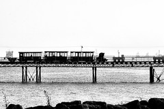 Choo Choo (*ian*) Tags: blackandwhite bw tag3 taggedout marina train pier blog tag2 tag1 hampshire solent favourite hythe bigemrg mar2007blog