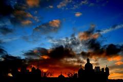 what a sky! (microabi) Tags: sunset beautiful skyline scotland amazing edinburgh brightcolours greatviews superaplus aplusphoto greyfrairschurcg