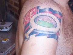 Tatuagem com a Bandeira do Flamengo