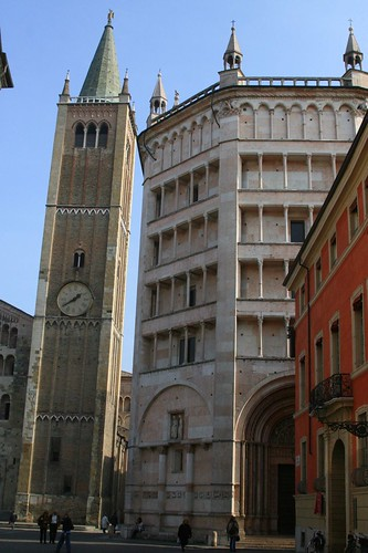 Baptistery and Campanile, Parma