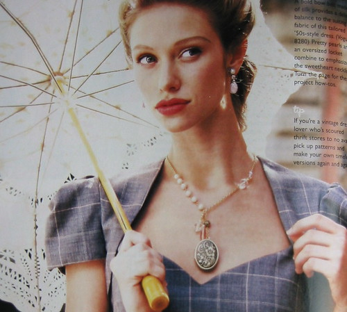 locket necklace from the spring 07 Adorn magazine