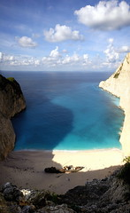 Forgotten Photos: Shipwreck Beach (EricByers) Tags: stitch deleteme10 panoramic greece calico verticalstitch shipwreckbeach