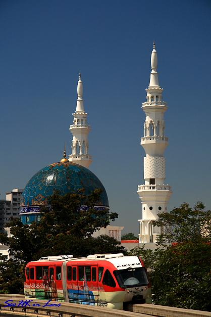 Mosque Near Hang Tuah LRT Station @ Kuala Lumpur Malaysia