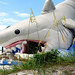 A Deflated Shark Bouncy Castle in Florida