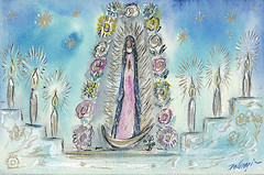 La Fiesta de Guadalupe (DeGrazia Gallery in the Sun) Tags: nationalhistoricdistrict degrazia artist ettore ted galleryinthesun artgallery gallery adobe architecture tucson arizona az catalinas desert missioninthesun mission lafiestadeguadalupe fiesta guadalupe patron saint mexico yaqui deerdancers mariachis music folkloricodancers