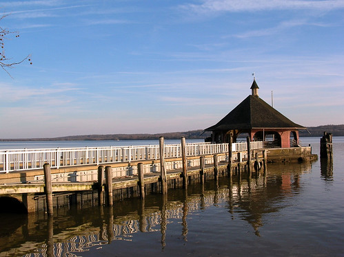 The boating dock on the Potomac river