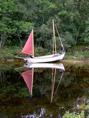 """reflections of summer.jpg (nz_willowherb) Tags: holiday reflection sport see boat tour country perthshire vessel visit tay highland destination loch activity willowherb drascombe to"""" """"go"""