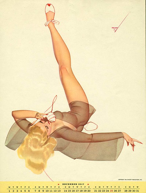 George Petty, calendar pin-up, 1947
