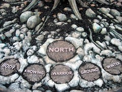 North - Medicine Wheel (sfsweetness) Tags: sanfrancisco nature stone reflections one rocks north nativeamerican conservatoryofflowers sanfranciscoconservatoryofflowers medicinewheel