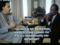 A homosexuality into my fart eye? (MFinChina) Tags: movie tv fake engrish fart chinglish borat subtitle alankeyes framecatch badsubtitle farteye