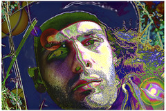 Shadowed Portrait Psychedelic 1995