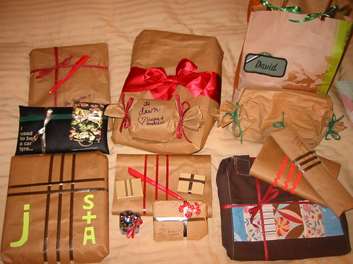 my last-minute eco-wrapped gifts this year