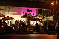Hot Dog Stand Lacoste (lowlight168) Tags: nyc slr digital d50 50mm nikon lowlight168