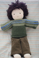 James's doll - complete! (UncommonGrace) Tags: handmade handknitted waldorfdoll dollclothes