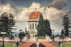 HDR: Shrine of the Bab (Ramin Hossaini) Tags: architecture clouds israel shrine explore bahai haifa hdr photomatix abigfave flickrplatinum