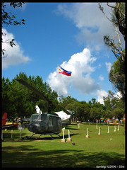 For the Country - S3isBaguio06_52.jpg (Daniel Y. Go) Tags: canon flag philippines powershot helicopter baguio pma ocs fpc uh1 helicpoter watawat f8crusader philippinemilitaryacademy staticdisplay s3is wowiekazowie gettyimagesphilippinesq1