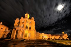 west wing (Mace2000) Tags: longexposure west castle germany deutschland 350d wing fullmoon schloss karlsruhe shining cloudjunkie vollmond langzeitbelichtung westflgel mace2000 img8288