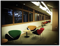 When exams are over... (vanarts) Tags: colors singapore chairs library empty seats cy nus nationaluniversityofsingapore challengeyouwinner
