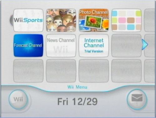 Wii home