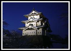 Hirosakijo Castle (Ernie Reyes) Tags: castle japan night nightime aomori hirosaki afterdark misawa