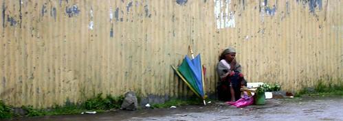Mujer en Addis Abeba (Etiopía)