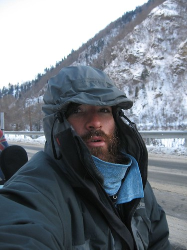 Chilly riding near Borjomi, Georgia